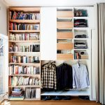 hanging shelves from ceiling hardwood floor pull outs drawers racks clothing contemporary design