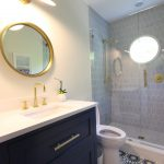 Kate Spade Bathroom Beautiful Floor Vanity Faucet Sink Mirror Cool Lamp Shower Toilet Transitional Room
