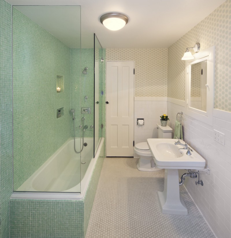 kate spade design bathtub pedestal sink toilet mirror cool lamps wall storage towel rack traditional style room