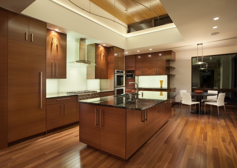 kitchen cabinets clearance chairs table beautiful floor island stove sink faucet ceiling lights modern room