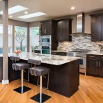 kitchen cabinets clearance light coloured floor ceiling fan lights modern chairs island countertops transitional room