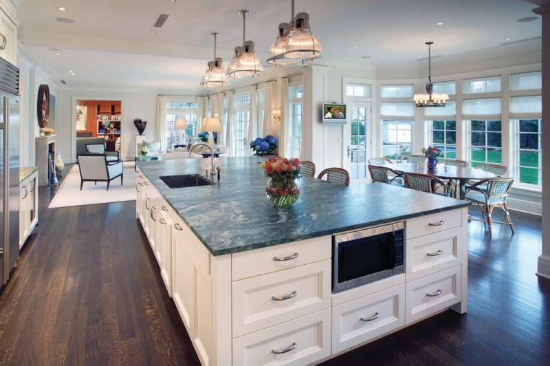 Fabulously Cool Large Kitchen Islands with Seating and Storage ...