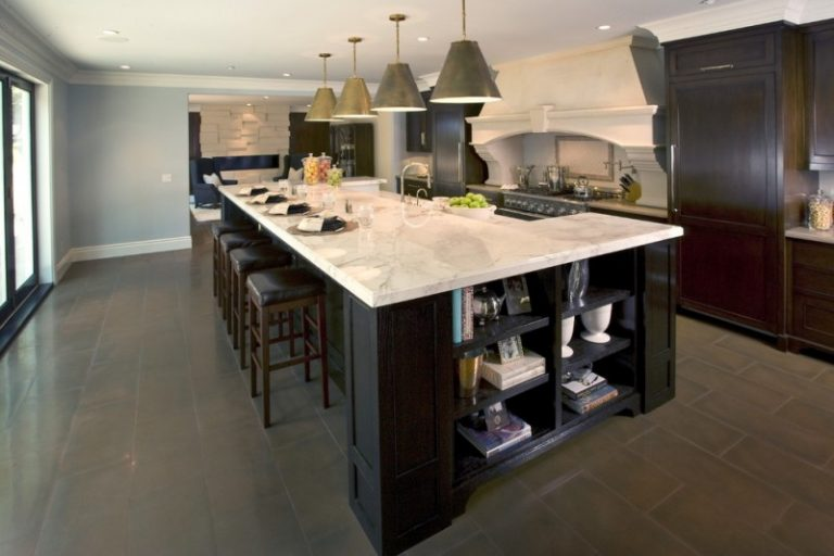 Large Kitchen Island Designs And Plans: Fabulously Cool Large Kitchen Islands With Seating And