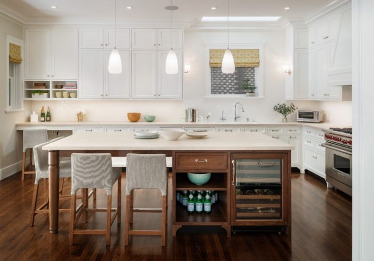 large kitchen islands with seating and storage wood floor chairs cabinets  stove cool lamps window faucet