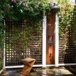 Lattice Fence Designs Stone Floors Shower Wood Stools Traditional Design