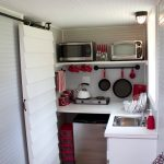 mini kitchen units stove sink faucet shelf rack appliances oven cool lamp sliding door eclectic room