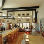 Mountain Home Floor Plans Orange Fission Mini Pendant Light L Shaped Kitchen Island Wood Kitchen Cabinet Glass Patio Windows And Doors Minimalist Staircase