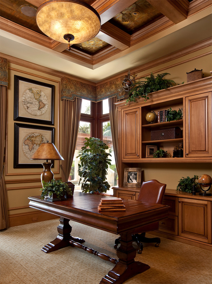 office decor ideas for work desk chair green plants maps curtains cool lamp cabinet shelves mediterranean home office