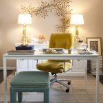 Office Decor Ideas For Work Desk Stool Chair Lamps Flowers Shabby Chic Style Home Office