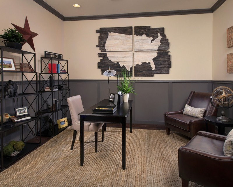 Office Decor Ideas For Work Mat Desk Chairs Small Round Top Table  Decorative Plants Wall Decor. Meritage Homes
