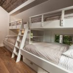 one bedroom cabin plans hardwood floors lofted bunk beds pendants stairs drawers transitional design