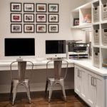 organization ideas for small spaces computers custom cabinetry chairs hardwood floors framed artworks board transitional design