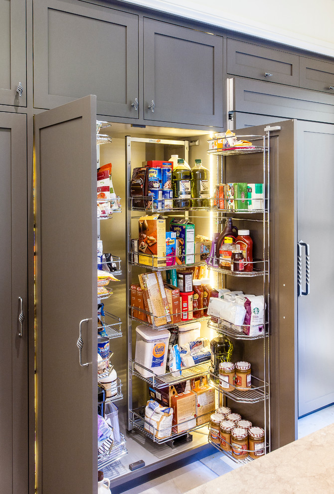 organization ideas for small spaces pantry system cabinet closed racks transitional design