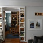 Organization Ideas For Small Spaces Small Shelving Sofa Tables Chair Cabinetry Hardwood Floors Eclectic Design