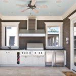 Outside Kitchen Design Doors Stove Mirrors Cabinets Ceiling Fan Traditional Patio