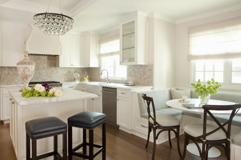 penthouses in los angeles stools chairs bench island cabinets windows stove faucet pillow transitional kitchen