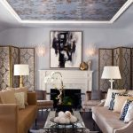 penthouses in los angeles table chairs sofas flowers lamps pillows room dividers painting fantastic ceiling transitional living room