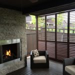 Privacy Window Screens Weatherwell Elite Aluminium Shutter Modern Black Armchairs Wooden Floor Modern Fireplace