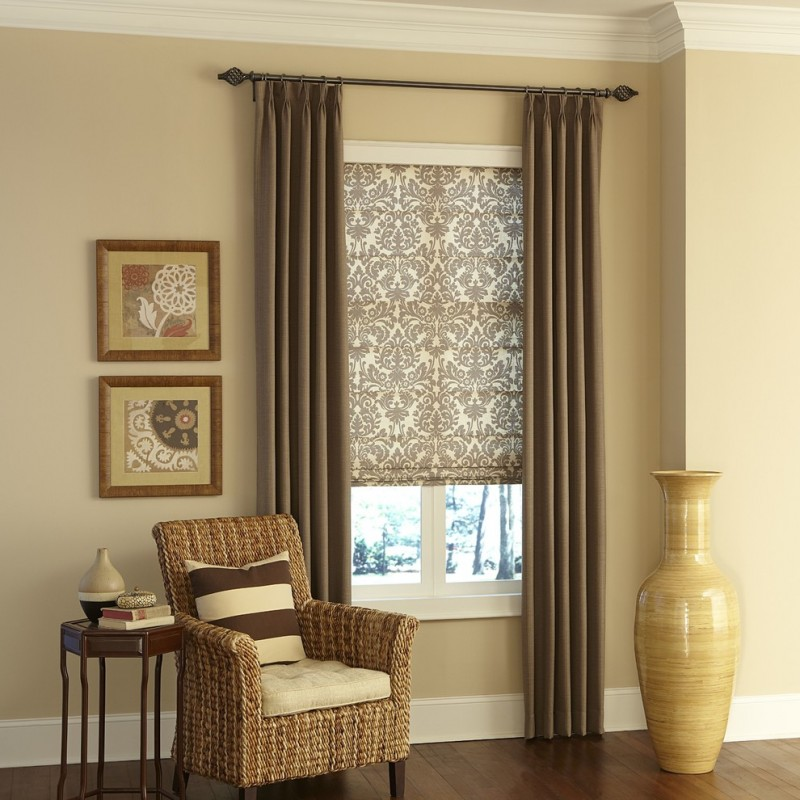 Chic roman shades outside mount for your windows decohoms Curtains and blinds