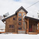 Small Rustic House Plans Door Windows Railing Pillar Wood Walls Trees Snow Coolly Rustic House