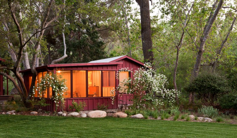 small rustic house plans grass trees big windows lighting cool wall exterior