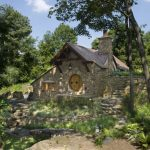 Small Rustic House Plans Stones Window Door Stone Wall Roof Lighting Lovely Exterior