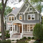 small victorian house plans gable roof stairs grey walls windows door light garden pavers porch railing traditional design