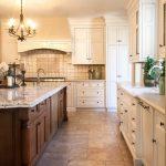 Spanish Tile Backsplash White Backsplash Large Kitchen Island Greenhouse Kitchen Window Large White Cabinet Grey Antique Chandelier