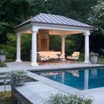 square gazebo plans swimming pool white cushioned iron patio furniture stone wall nice patio lights glass patio table wine rack