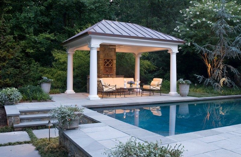 Fascinating square gazebo plans to make decohoms for Pool design with gazebo