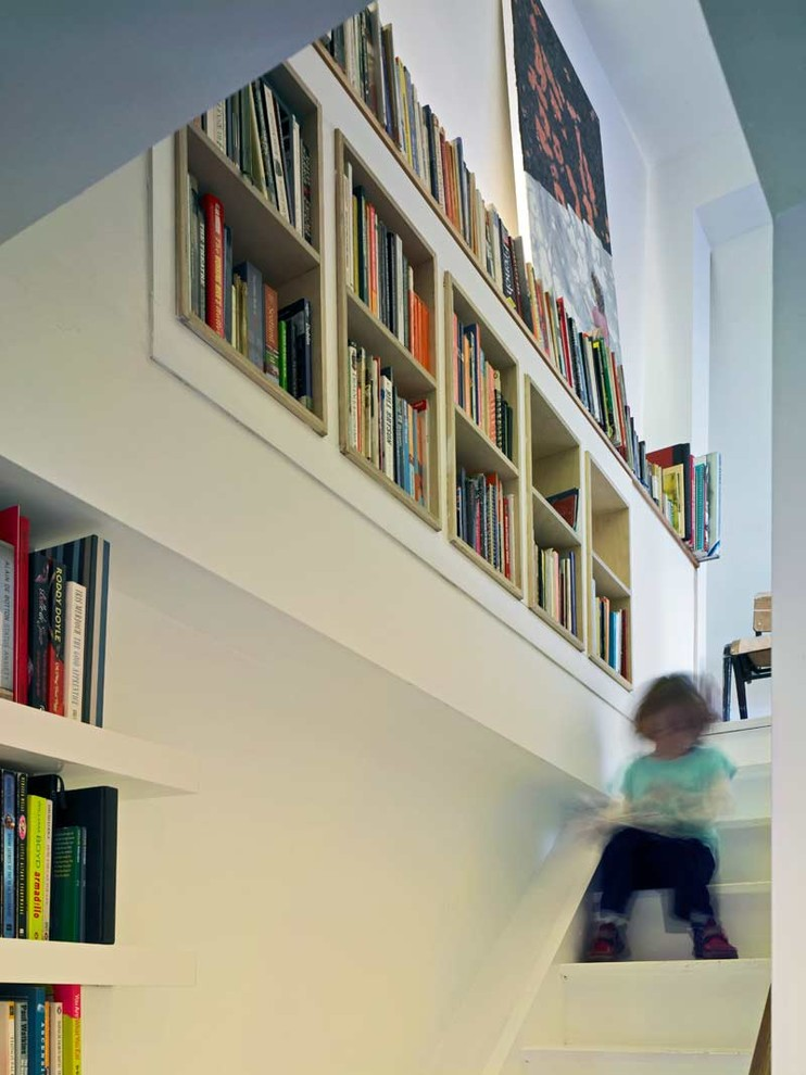 Stair Step Bookcase Books Shelves Stairs Bookshelves Modern Staircase