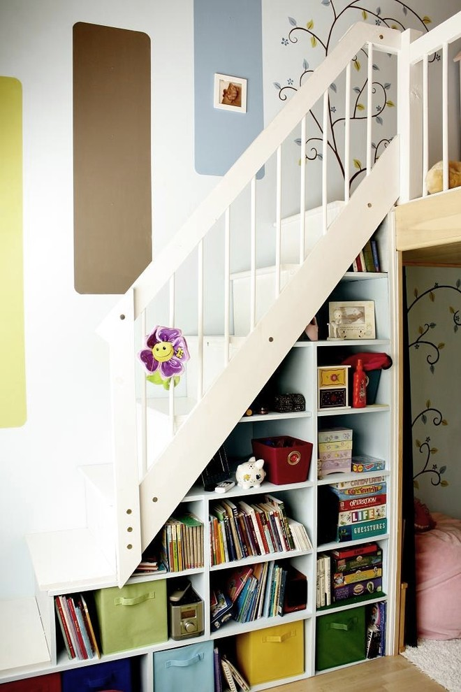 Stair Step Bookcase Books Shelves Stairs Wallpaper Colours Contemporary Area