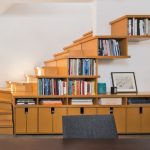 stair step bookcase stairs books shelves bookshelves chair contemporary staircase
