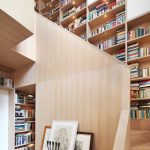 stair step bookcase stairs books shelves bookshelves painting lamps contemporary staircase