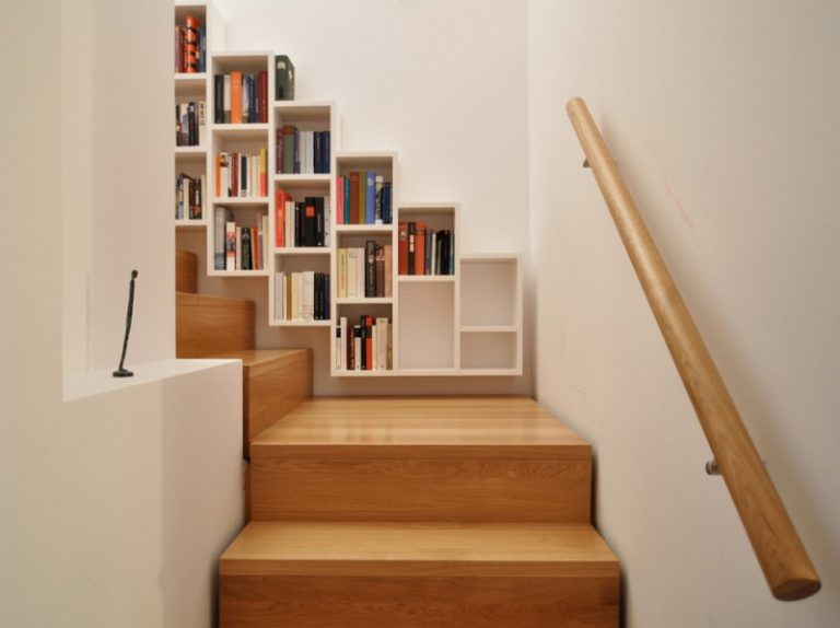 Stair Step Bookcase Stairs Books Shelves Wood Contemporary Staircase