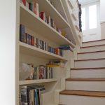 stair step bookcase stairs shelves books traditional staircase