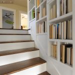 stair step bookcase stairs wood craftman staircase bookshelves books