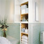 storage solution for small bathroom decorative plant shelves towels traditional room