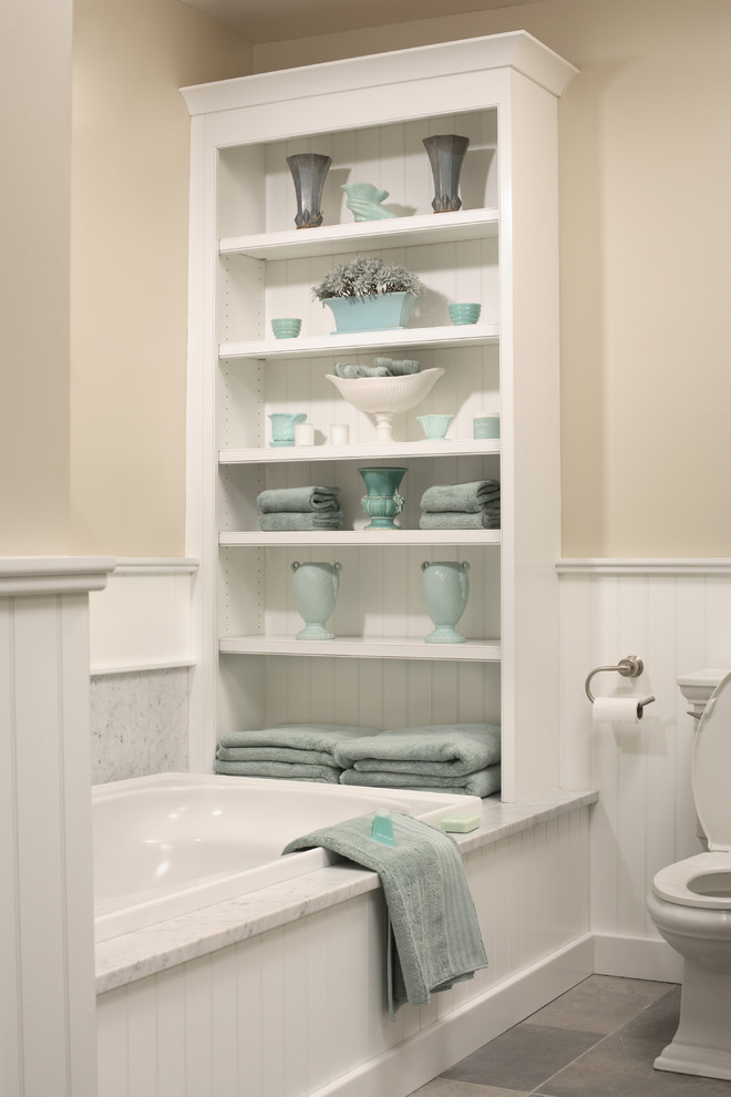 storage solution for small bathroom toilet shelves bathtub towels traditional room
