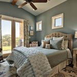 Textured And Soft Blue Bedding Idea Contemporary Bed Frame With Headboard In Cream Combo Soft Blue Walls White Ceilings Extra Large Size Area Rug