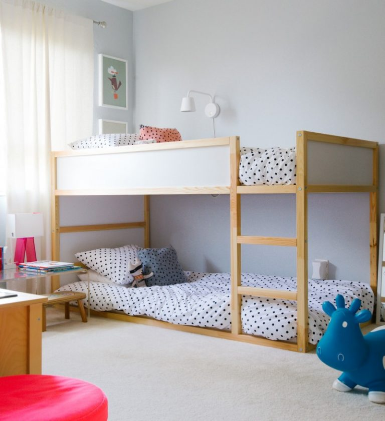 Toddler Bunk Bed Plans Blue Trumpette Howdy Bouncy Rubber Cow Low Bottom Bed  Small Bedroom White