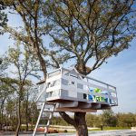 treehouses for kids stairs balcony gable roof chairs white door contemporary design