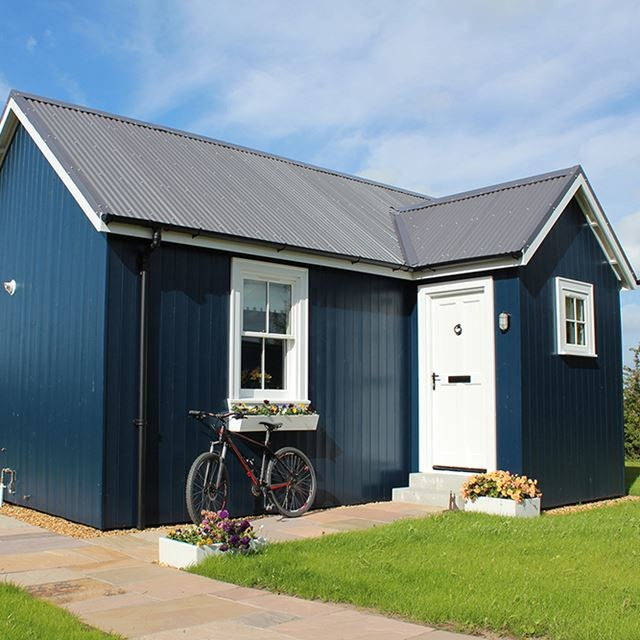 very small house plans blue walls small window white door cool roof bicycle traditional exterior