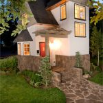 very small house plans grass windows cool lamp door white walls dark roof beautiful traditional exterior