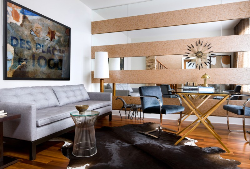 wall decorating ideas for living room artwork beautiful floor moder chairs sofa table books lamp modern room