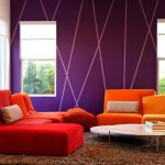 Wall Decorating Ideas For Living Room Couches Daybed Carpet Hardwood Floors Bold Wall Coffee Table Windows Modern Design