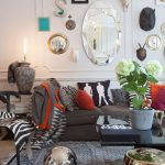 wall decorating ideas for living room mirrors sofa glass top table chairs urn eclectic design