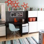 wall unit desk carpet mirror chair cool wall patterns books shelves contemporary kids room