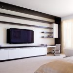 wall units with desk bed cool modern chair shelves wall tv books lamps contemporary style bedroom