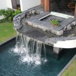 waterfalls for pools beautiful pools black slate flagstone black slate modern water fountain patio waterfall pool spillway wooden patio chairs rectangular long waterfall